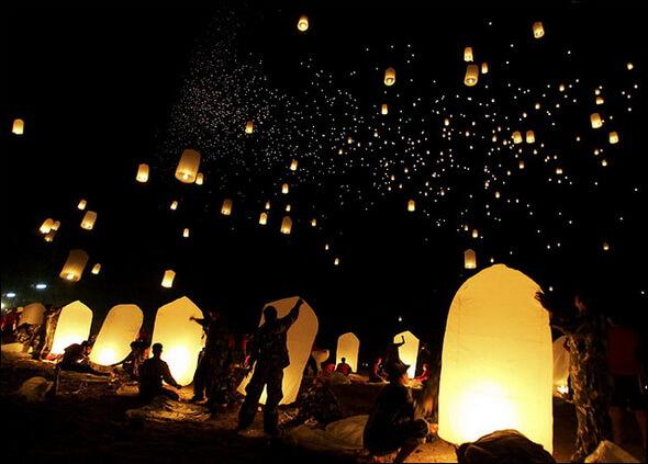 Романтический вечер или летающие фонарики